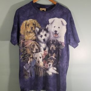 the mountain t shirt SZ M dog print